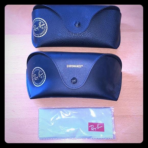 2 Ray-Ban Sunglasses Cases + 1 Ray-Ban cloth